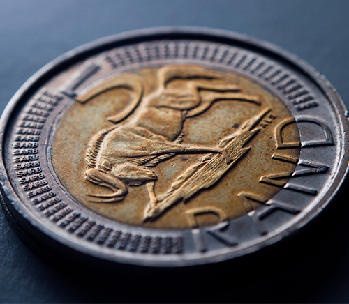 South African Five Rand Coin